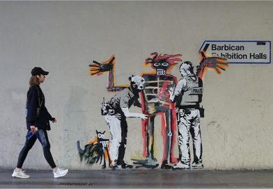Banksy Makes Graffiti Satirizing Barbican's Basquiat Show, And Barbican Wants To Keep It