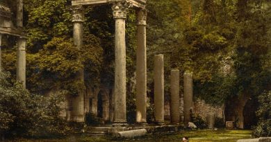 How Roman Ruins Ended Up Repurposed Into A British Garden