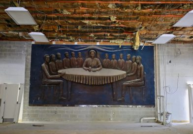 A Massive Sculpture Of An African American Last Supper Was Hidden Behind Drywall Until A Theatre Moved In